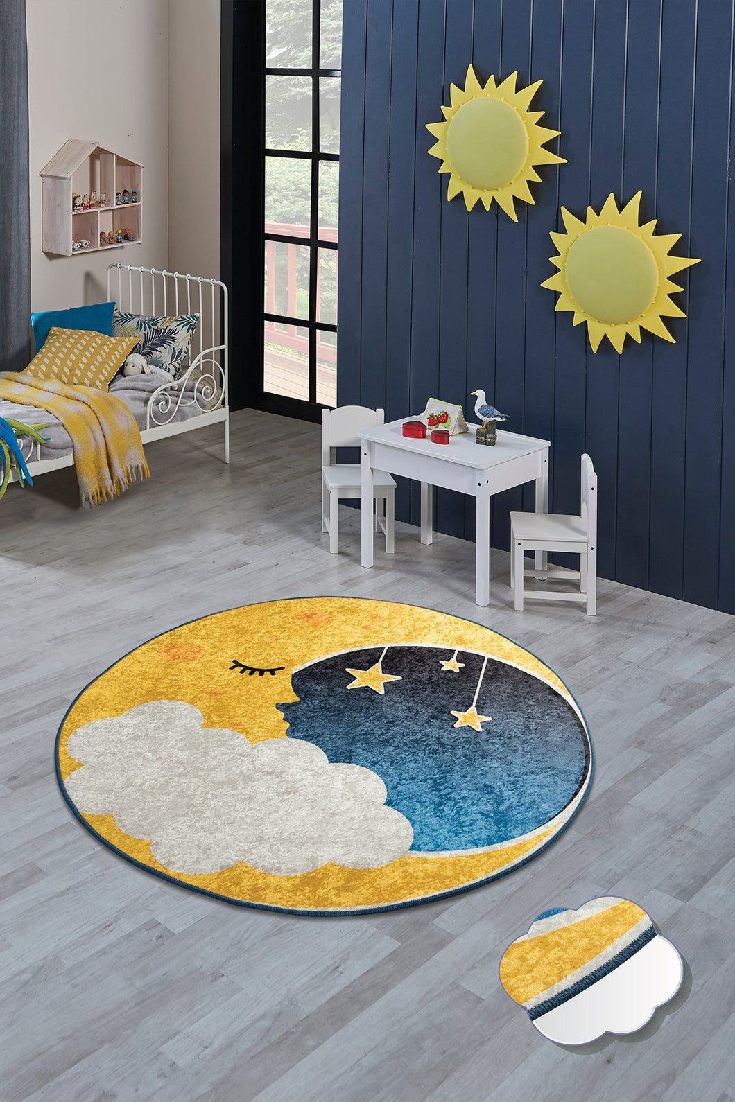 Antdecor Moon Rugs for kids Highway  3'x 5' 39