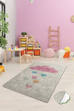 "Load image into Gallery viewer, RugstoreX Cloud Ekru Rugs for kids Highway  3'x 5' 39""x 62"" 100x160 cm"