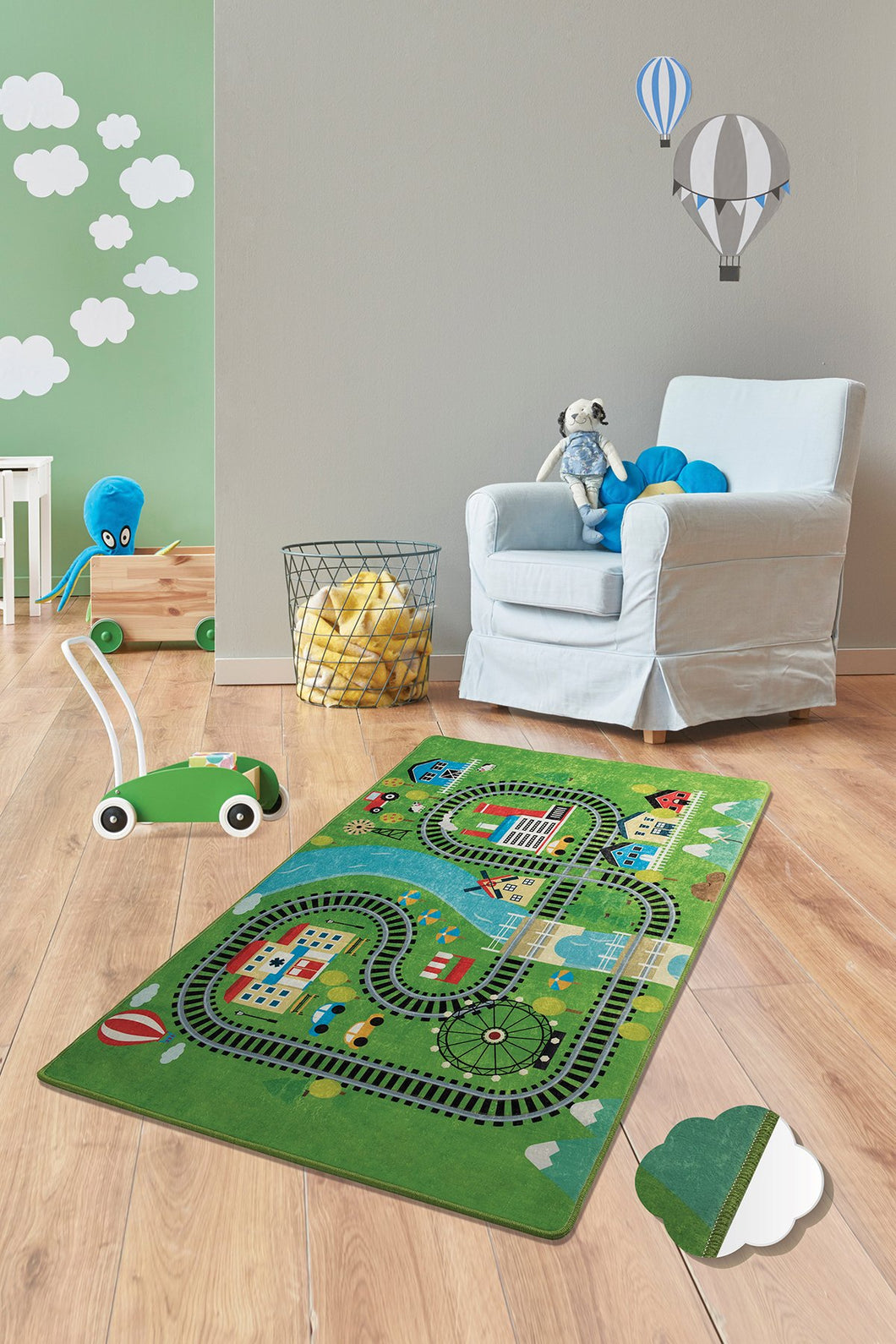 RugstoreX Train Rugs for kids Highway  3'x 5' 39