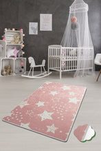 "Load image into Gallery viewer, RugstoreX Stars Pink  Rugs for kids Highway  3'x 5' 39""x 62"" 100x160 cm"