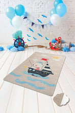 "Load image into Gallery viewer, RugstoreX Soilor Gri Rugs for kids Highway  3'x 5' 39""x 62"" 100x160 cm"