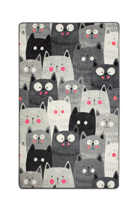 "RugstoreX Cats Rugs for kids Highway  3'x 5' 39""x 62"" 100x160 cm"