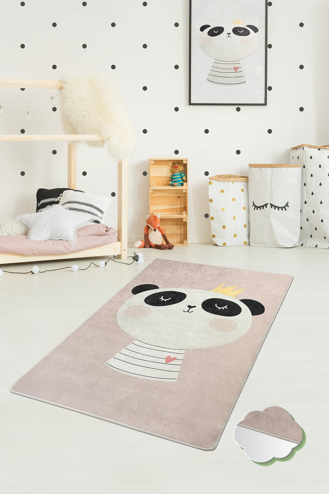 Antdecor King Panda Rugs for kids Highway  3'x 5' 39