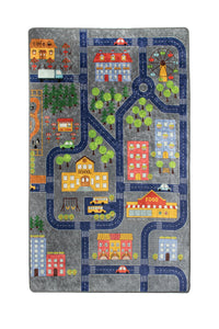 "RugstoreX Small Town Rugs for kids Highway  3'x 5' 39""x 62"" 100x160 cm"