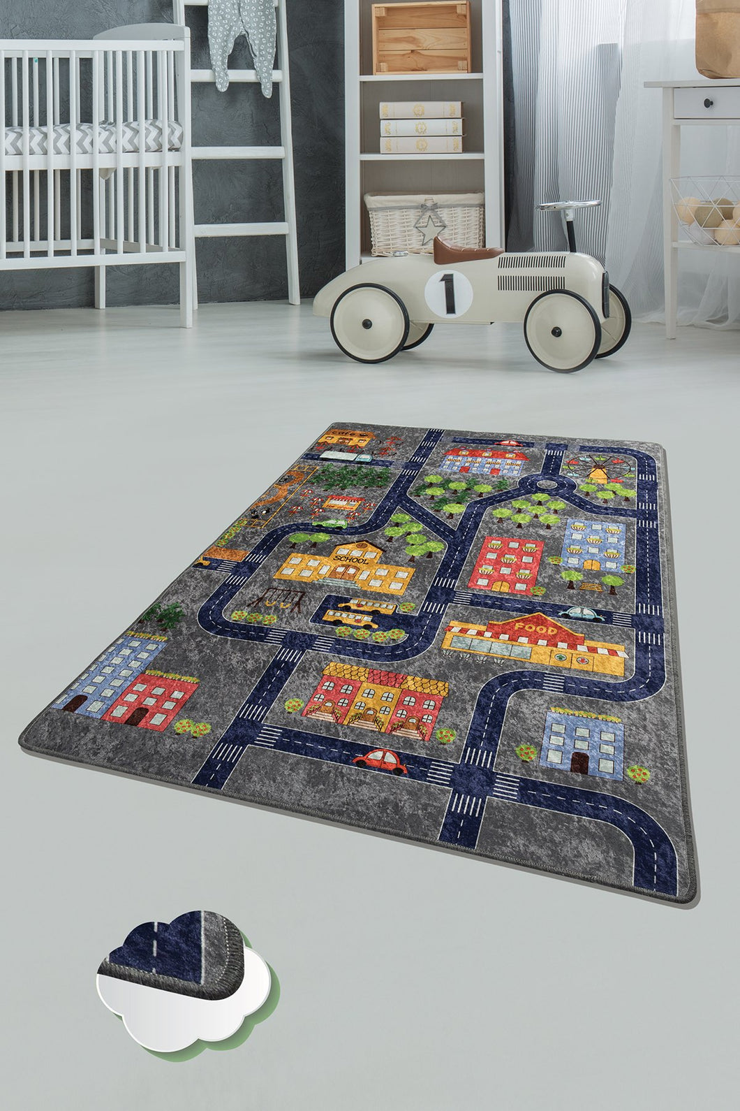 RugstoreX Small Town Rugs for kids Highway  3'x 5' 39
