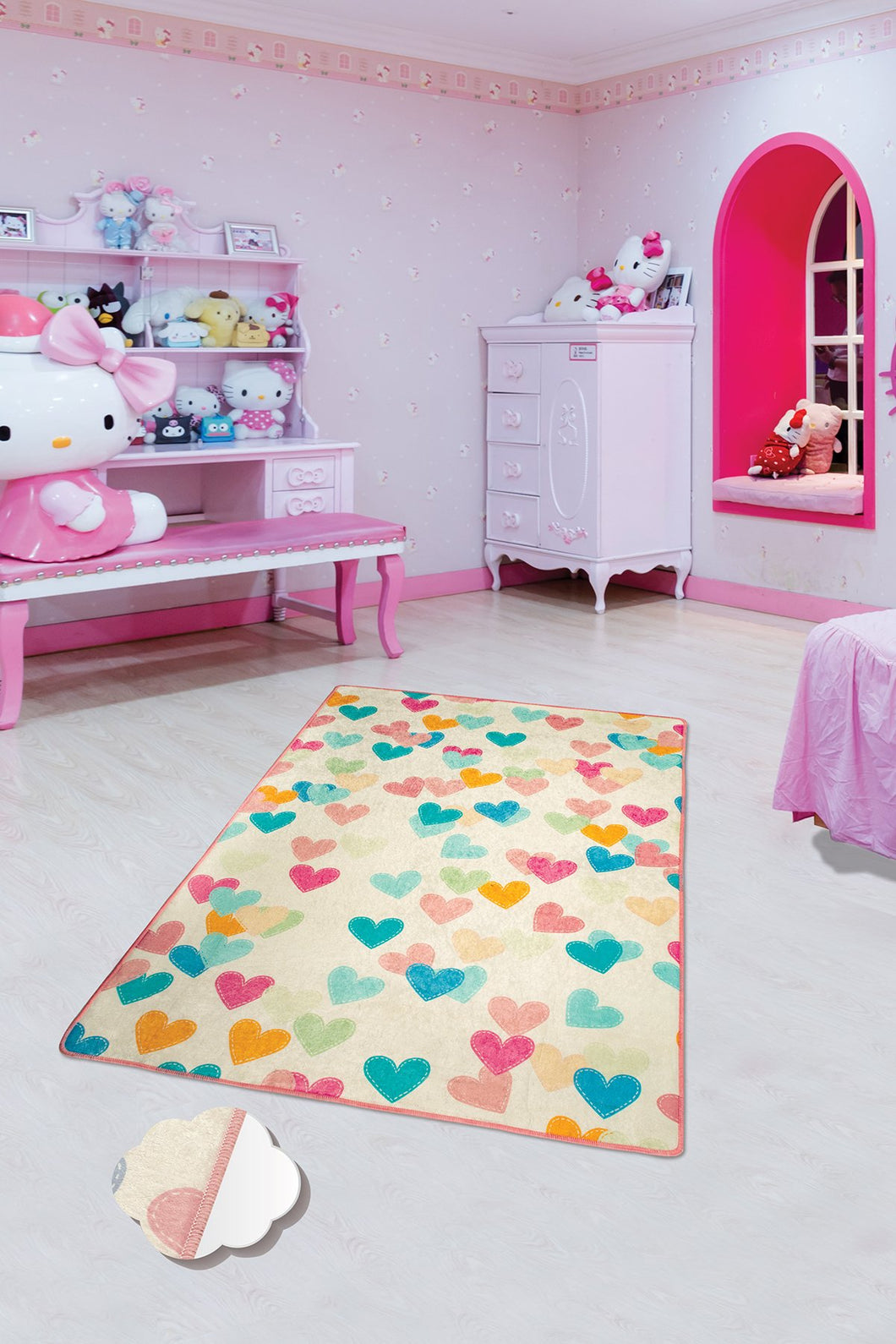 Antdecor Hearts Rugs for kids Highway  3'x 5' 39