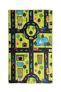 "Antdecor Green City Rugs for kids Highway  3'x 5' 39""x 62"" 100x160 cm"