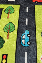 "Load image into Gallery viewer, Antdecor Green City Rugs for kids Highway  3'x 5' 39""x 62"" 100x160 cm"