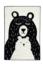 "Load image into Gallery viewer, RugstoreX Bears White Rugs for kids Highway  3'x 5' 39""x 62"" 100x160 cm"