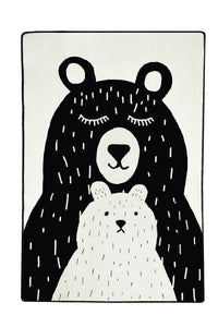 "RugstoreX Bears White Rugs for kids Highway  3'x 5' 39""x 62"" 100x160 cm"