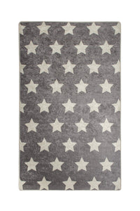 "RugstoreX Star Grey for kids Highway  3'x 5' 39""x 62"" 100x160 cm"