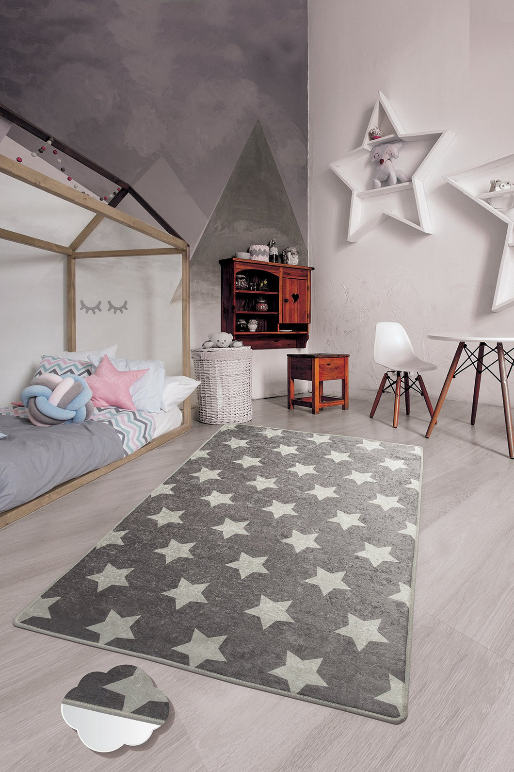 RugstoreX Star Grey for kids Highway  3'x 5' 39