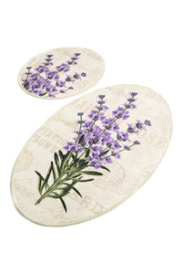 Antdecor Djt 2'li Lavender Premier Carpet poster, Bathroom Carpet Set Anthracite