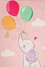 "Load image into Gallery viewer, RugstoreX Balloons Pink for kids Highway  3'x 5' 39""x 62"" 100x160 cm"