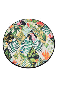 "Cansun Patch Round Rug 40"" - Rattanglobal"