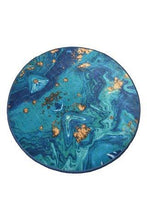 "Load image into Gallery viewer, Cansun Marbling Round Bath Rug 40"" 100 cm - Rattanglobal"