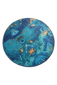 "Cansun Marbling Round Bath Rug 40"" 100 cm - Rattanglobal"