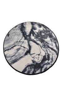 "Cansun Marble Round Bath Rug 40"" 100 cm - Rattanglobal"