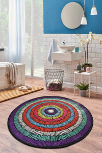 "Antdecor Bubble Round Bath Rug Area Rug Round Rug 40"" 100 cm - 55"" 140 cm"