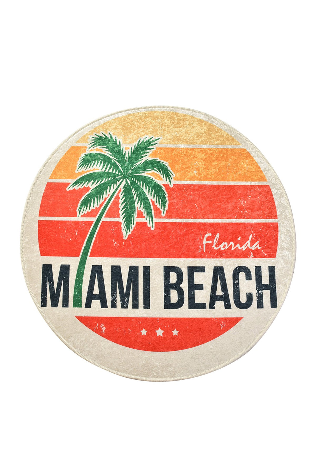 Antdecor Miami Beach Round Bath Rug Area Rug Round Rug 40