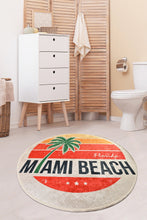 "Load image into Gallery viewer, Antdecor Miami Beach Round Bath Rug Area Rug Round Rug 40"" 100 cm - 55"" 140 cm"