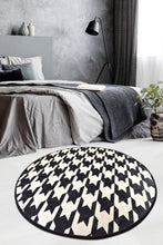 "Load image into Gallery viewer, Antdecor Kazayağı Round Bath Rug Area Rug Round Rug 40"" 100 cm - 55"" 140 cm"