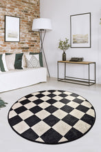 "Load image into Gallery viewer, Antdecor Dama Round Bath Rug Area Rug Round Rug 40"" 100 cm - 55"" 140 cm"
