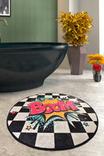 "Load image into Gallery viewer, Antdecor Boom Round Bath Rug Area Rug Round Rug 40"" 100 cm - 55"" 140 cm"