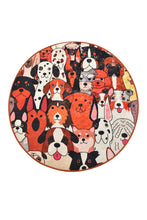 "Load image into Gallery viewer, Antdecor Dogs Round Bath Rug Area Rug Round Rug 40"" 100 cm - 55"" 140 cm"