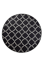 "Load image into Gallery viewer, Antdecor Kupa Black Round Bath Rug Area Rug Round Rug 55"" 140 cm"