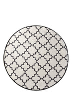 "Load image into Gallery viewer, Antdecor Kupa White Round Bath Rug Area Rug Round Rug 55"" 140 cm"