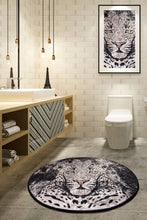 "Load image into Gallery viewer, RugstoreX Tiger Djt Çap Round Bath Rug Area Rug Round Rug 40"" 100 cm - 55"" 140 cm"