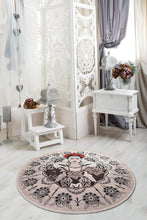 "Load image into Gallery viewer, Antdecor Frida Round Djt Bath Rug Area Rug Round Rug 40"" 100 cm - 55"" 140 cm"