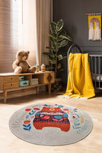 "Load image into Gallery viewer, RugstoreX Sweet Bear  Round Bath Rug Area Rug Round Rug - 40"" 100 cm - 55"" 140 cm"