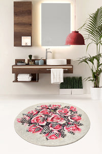 "Antdecor Magic Roses Round Bath Rug Area Rug Round Rug 40"" 100 cm - 55"" 140 cm"
