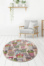 "Load image into Gallery viewer, Antdecor Flower Round Bath Rug Area Rug Round Rug 40"" 100 cm - 55"" 140 cm"