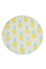 "Load image into Gallery viewer, RugstoreX Pineapple Round Bath Rug Area Rug Round Rug 40"" 100 cm"