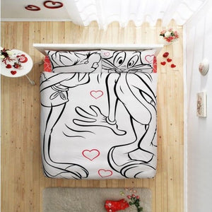 TAC Bugs Bunny & Lola Amour Theme licensed Bedding Set Single Kids Bedding Set Twin (62,99''x86,61'') 160 x 220cm