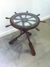 "Load image into Gallery viewer, Ship Wheel Table 38,5""X38,5""X29,5"" Walnut Wood Modern Living Room Table - Rattanglobal"