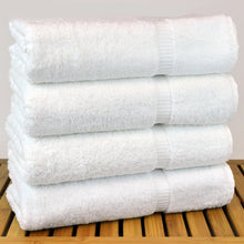 "Load image into Gallery viewer, Luxury Hotel & Spa Bath Towel Turkish Cotton, 30"" x 55"" ,Set of 4, White - Rattanglobal"