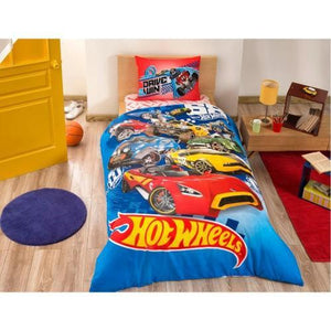 %100 Cotton Hot Wheels Theme licensed Bedding Set Single / Twin Best Seller Set Collection - Rattanglobal