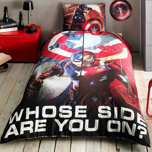 %100 Cotton Captain America Movie  Theme licensed Bedding Set Single / Twin Best Seller Set Collection - Rattanglobal