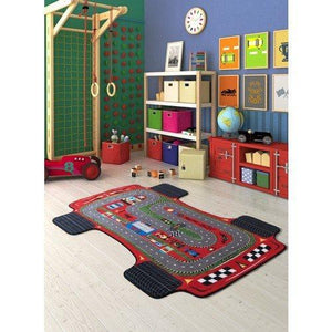 "Rugs for kids Racer Theme by Antdecor  4'x 6' 52""x 75"" 133x190 cm - Rattanglobal"