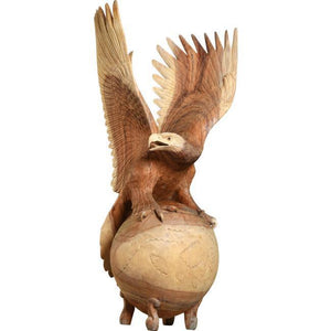 Hand Carving Wooden Eagle Sculpture ANT 5101 - Rattanglobal