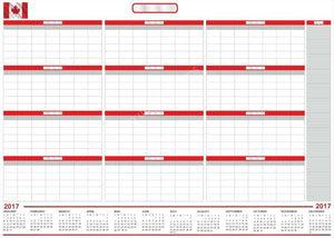 "UK 2017 CALENDAR Extra Large 38"" x 55"" Dry & Wet Erasable Undated - Rattanglobal"