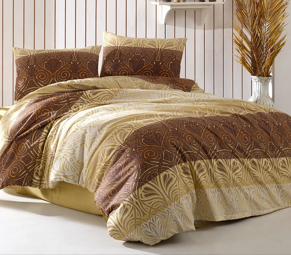 House of Hampton Charm Brown Reversible Duvet Set Queen (78