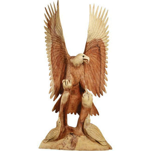 Hand Carving Wooden Eagle Sculpture ANT 5103 - Rattanglobal
