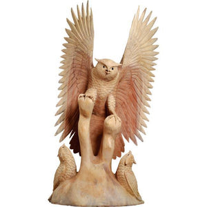 Hand Carving Wooden Eagle Sculpture ANT 5109 - Rattanglobal