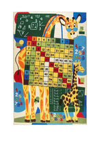 "Load image into Gallery viewer, Rugs for kids Math Class Theme by Antdecor  4'x 6' 52""x 75"" 133x190 cm - Rattanglobal"