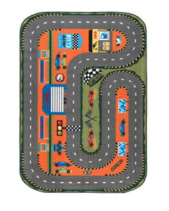 "Rugs for kids Race Club Theme by Antdecor  3'x 5' 39""x 59"" 100x150 cm - Rattanglobal"